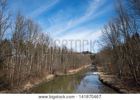Mangfall River At Early Springtime