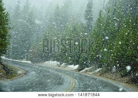 Early spring in Rocky Mountains Colorado, USA