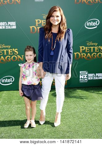 Tiffani Thiessen at the World premiere of 'Pete's Dragon' held at the El Capitan Theatre in Hollywood, USA on August 8, 2016.