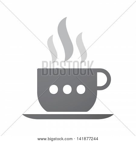 Isolated Coffee Cup Icon With  An Ellipsis Orthographic Sign