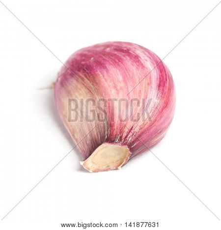 Garlic clove isolated on white background