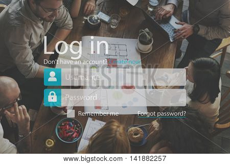 Log-in Apply Subscribe Sign-up Register Enter Concept