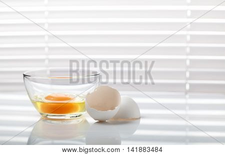 Egg In Bowl And Eggshell