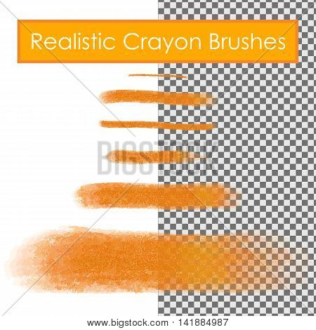 Realistic pastel or crayon brushes samples for your design