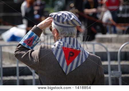 Former Prisoner Of A Nazi Concentration Camp In Poland