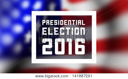 Presidentioal elecction in USA. Vector illustration with flag