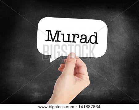 Murad written in a speechbubble