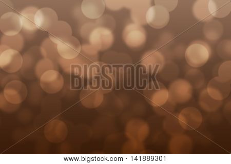 Abstract circular chocolate brown light bokeh background