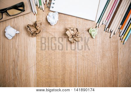 Desktop With Stationery Objects