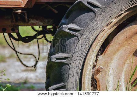 Big Old Tractor Wheel Fragment