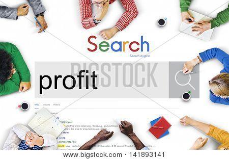 Profit Money Assets Acquisition Revenue Benefit Concept