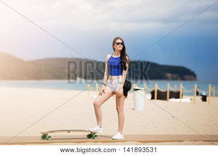 Standing One Leg On The Longboard