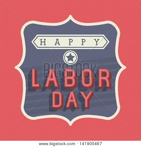 happy labor day icon vector isolated graphic