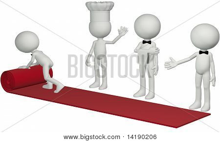 Restaurant Chef Waiter Roll Hospitality Red Carpet