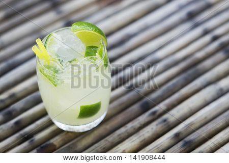 caipirinha classic brazilian rum and lime cocktail drink