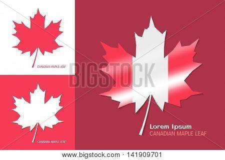 Canadian maple leaf symbol. Vector clipart illustration