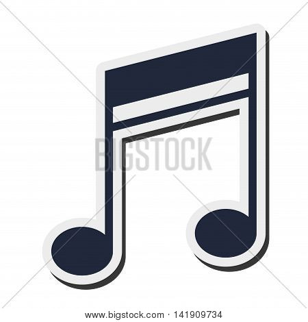 flat design quaver music note icon vector illustration