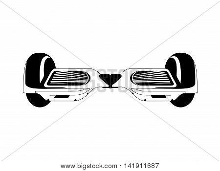 flat design single hoverboard icon vector illustration