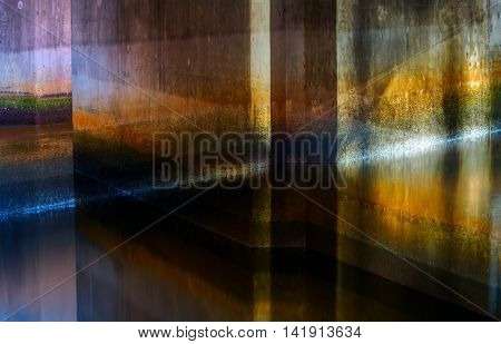 Abstract wall texture light reflection