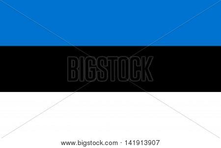 Flag of estonia. Flag of estonia vector. Flag of estonia isolated. illustration