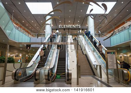 HONG KONG - CIRCA JANUARY, 2016: Elements shopping mall in Hong Kong. Elements is a large shopping mall, located directly above the Kowloon MTR station