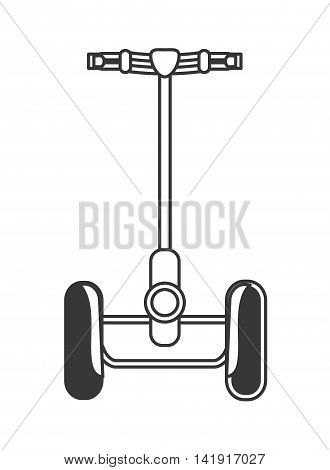 flat design single person on hoverboard icon vector illustration