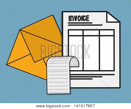 document envelope paper invoice payment icon. Flat and Colorfull illustration. Vector graphic