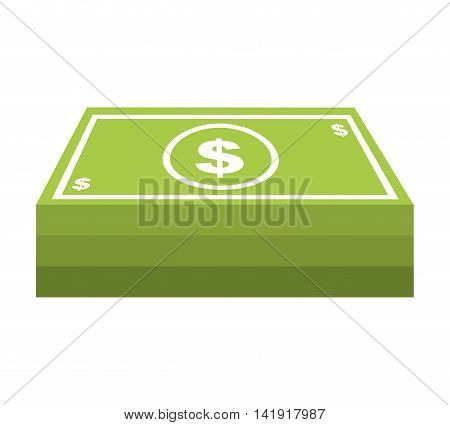 money cash bills dollars icon vector illustration design