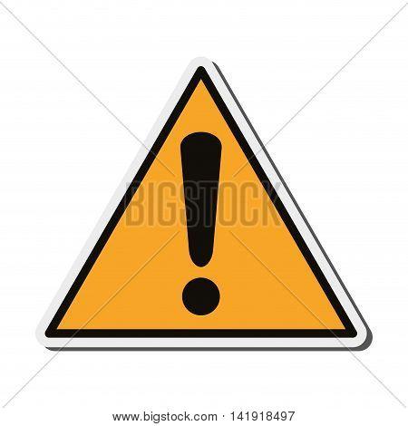 flat design warning sign icon vector illustration