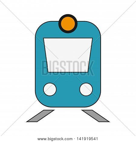 flat design train frontview icon vector illustration