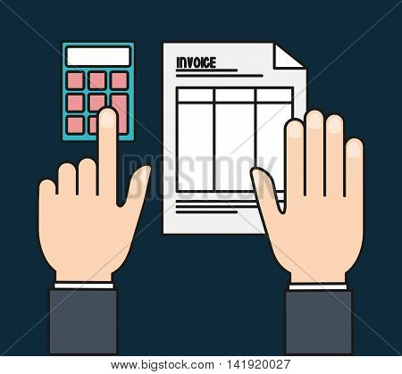 document paper calculator invoice payment icon. Flat and Colorfull illustration. Vector graphic
