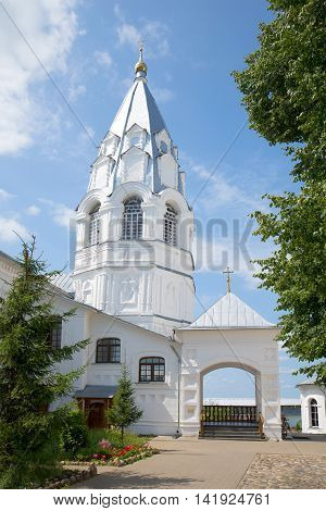 The bell tower of the old Church of the Annunciation in Nikitsky monastery. Nikitskaya Sloboda, Pereslavl-Zalessky, Russia