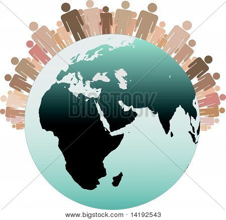 Symbol People As Diverse Earth Population