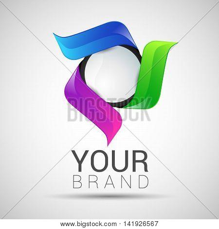 Vector Circle Logo Design Template Infinite Loop Shape Cycle Creative Symbols