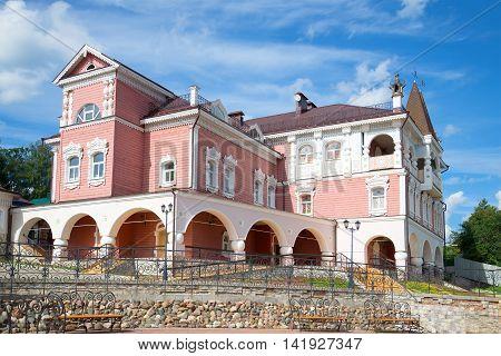 MYSHKIN, RUSSIA - JULY 13, 2016: The building of the tourist complex