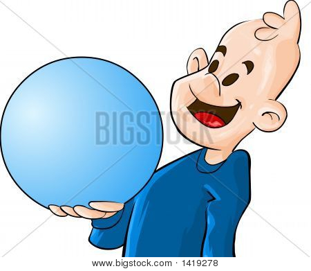 The Boy With Globe