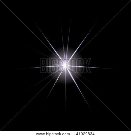 The star with a plurality of long thin beams in space.