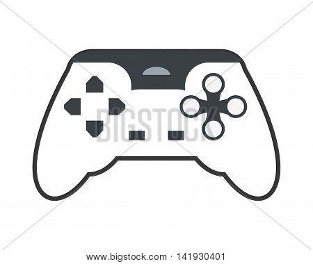 flat design game controller icon vector illustration