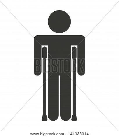 human figure person fractured icon vector illustration design
