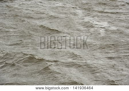 A high detail shot of rough water surface during a storm