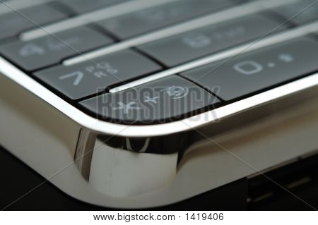 Close Up Shot Of Mobile Keypad Under Light