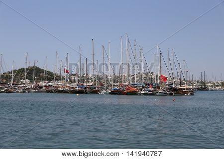 Boats In Bodrum Marina