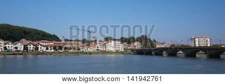 Saint Esprit Bridge In Bayonne, France