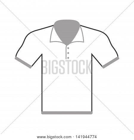 flat design polo shirt icon vector illustration