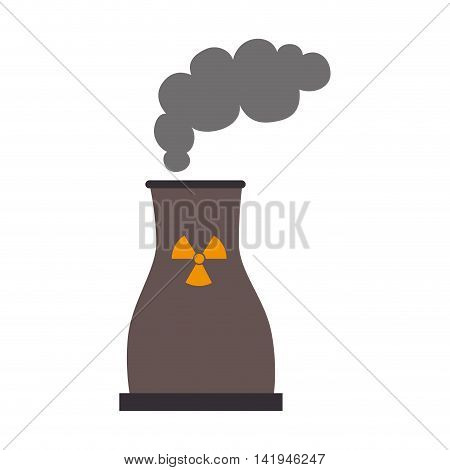 nuclear plant industry, isolated flat icon design