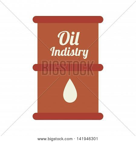 oil barrel industry, isolated flat icon design