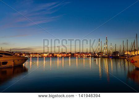 The main port of Kos island, Dodecanese, Greece.