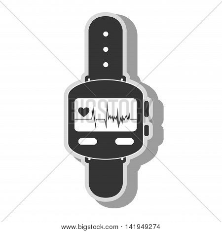 smart watch cardio , isolated flat icon design