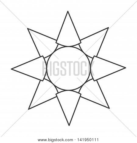 flat design sun representation icon vector illustration