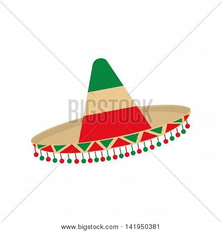 hat accesory mexican culture icon. Isolated and flat illustration. Vector graphic